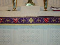 Altar Frontal design detail