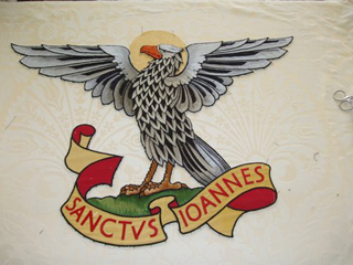 Altar Frontal embroidery - Sanctvs Joannes