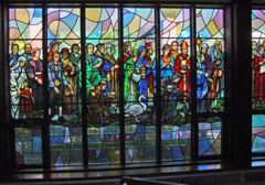 Pilgrimage Stained Glass Window Restoration for St Thomas Parish Church